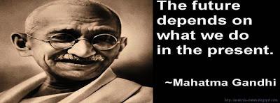 Photo de couverture Facebook citation Gandhi