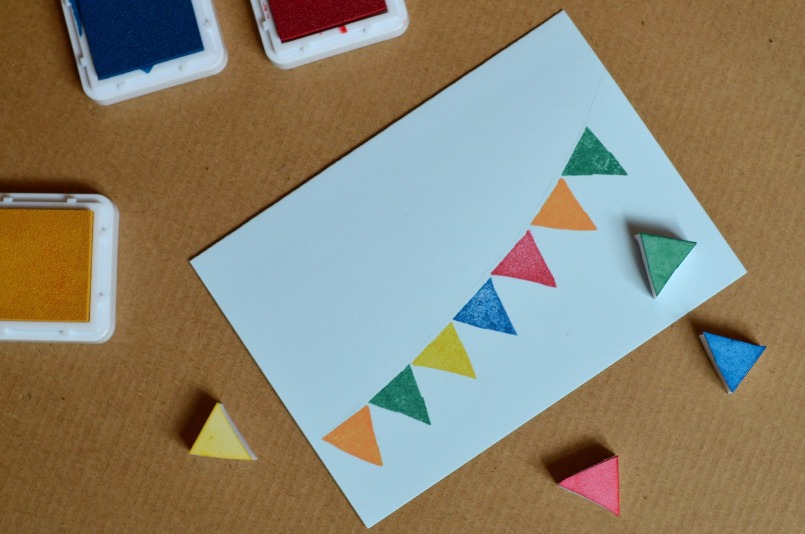 Diy+card+with+bunting