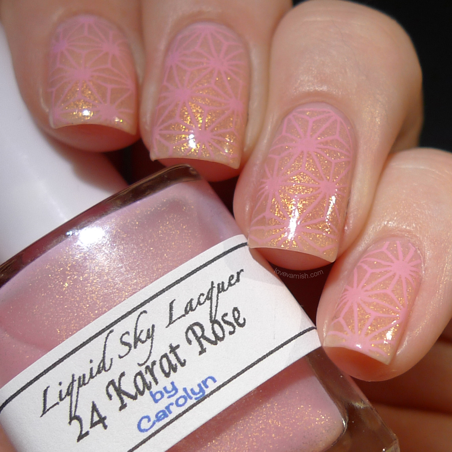 Liquid Sky Lacquer 24 Karat Rose thermal