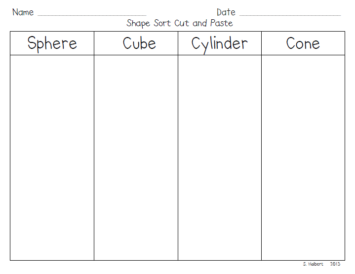 Shapes In Our Environment Worksheet Together With 3d Shapes Worksheets ...