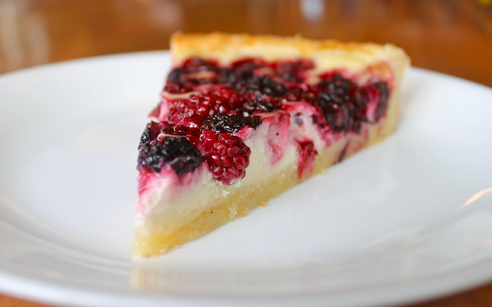 Blackberry Cheesecake Tart
