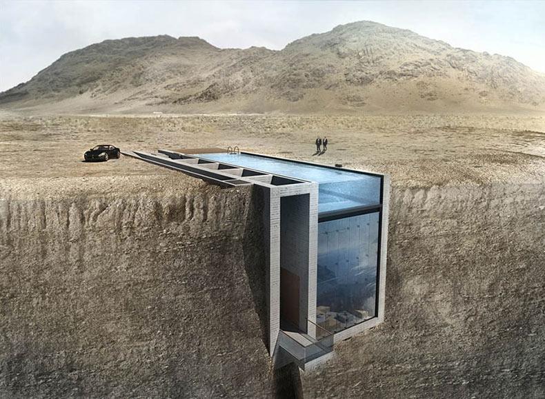 Esta casa oculta en un acantilado tiene las vista más impresionante y terrorífica