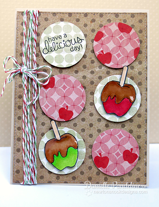 Caramel apple card by Danielle Pandeline for Newton's Nook Designs | Apple Delights Stamp Set