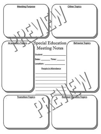 The Special Editor: Special Education IEP Meeting Notes Template ...