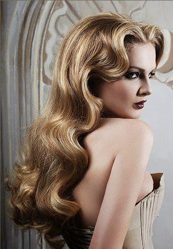 vintage hairstyles long hair
