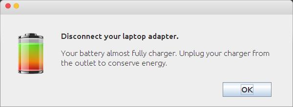 full battery warning ubuntu linux mint battery full warning linux mint 17.2 rafaela