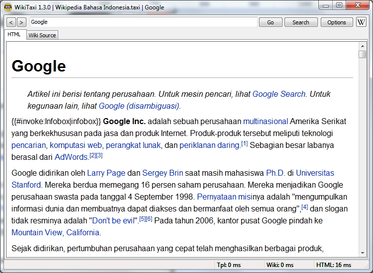 Wikitaxi Wikipedia