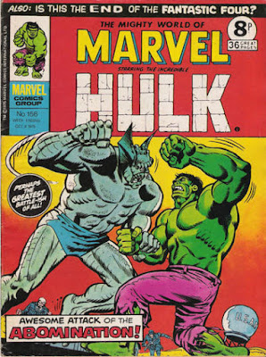 Mighty World of Marvel #156, Hulk vs Abomination