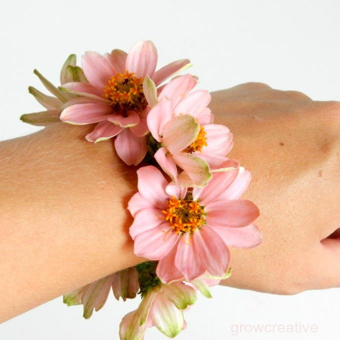 grow creative blog fresh flower wrist corsage. Black Bedroom Furniture Sets. Home Design Ideas