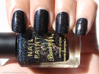 Barry M Black Multi-Glitter