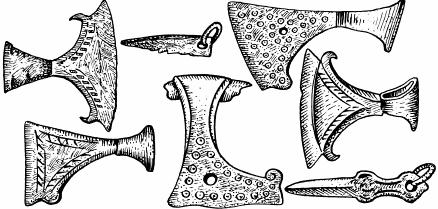 древнерусские подвески-топорики