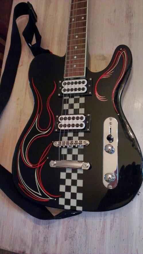 Pinstriping gitaar