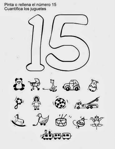 Mis recursos didácticos: Fichas para trabajar el número 15