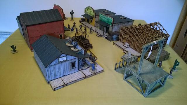 dead mans hand board game scenery terrain town western wild west