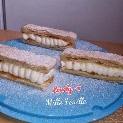easy 2 layer mille feuille recipe | Halal Home Cooking