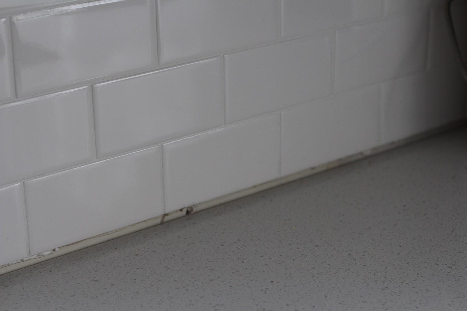Grey Subway Tile Herringbone Backsplash Grey Marble Floor