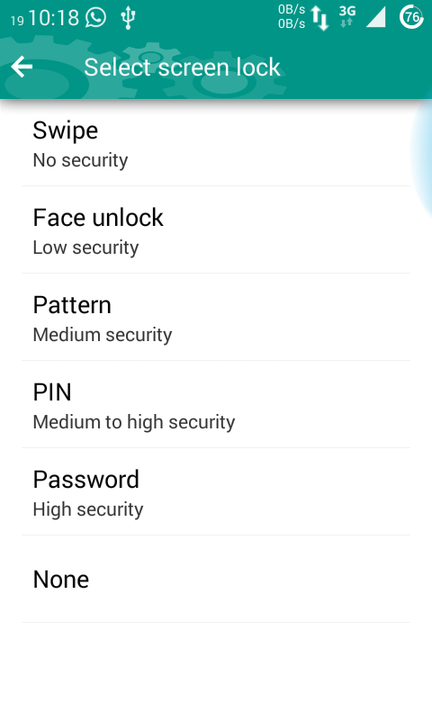 lockscreen with face unlock