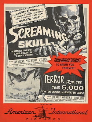 The Screaming Skull Vintage Double Bill Film Poster