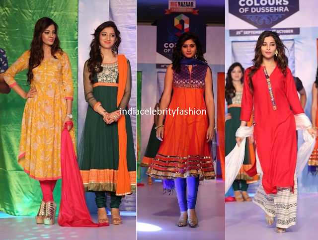 South Indian Celebrities in Salwar Kameezes
