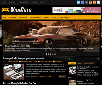 Free Download WooCars Blogger Template Otomotif,Blog