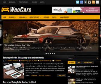 Free Download WooCars Blogger Template Otomotif,Blog
