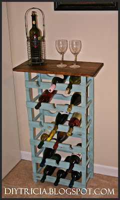 The Painted Chest Craigslist Wine Rack Update