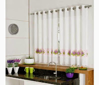Why are stripped curtains called as ideal modern kitchen curtains