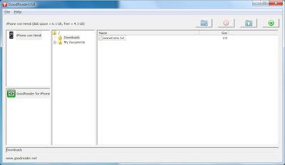 GoodReaderUSB auf einem Windows-PC