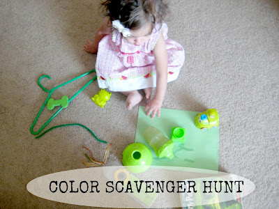 Toddler Color Scavenger Hunt