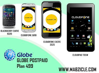 Globe telecom postpaid plan 499
