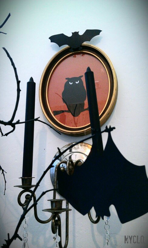 FOCAL POINT STYLING: Thrifty Halloween DIY Owl Wall Art Under USD 6
