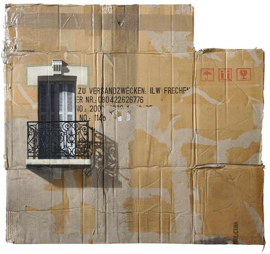 Arte sobre papelão | pintura de Evol