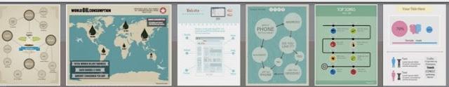 Plantilas prediseñadas para infografías gratuitas de Easel.ly