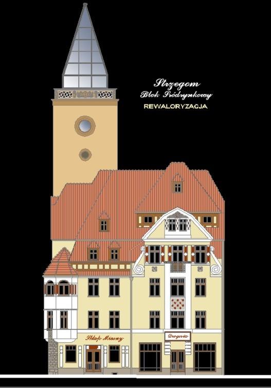 STRZEGOM RYNEK 46-47 i WieżaTargowa