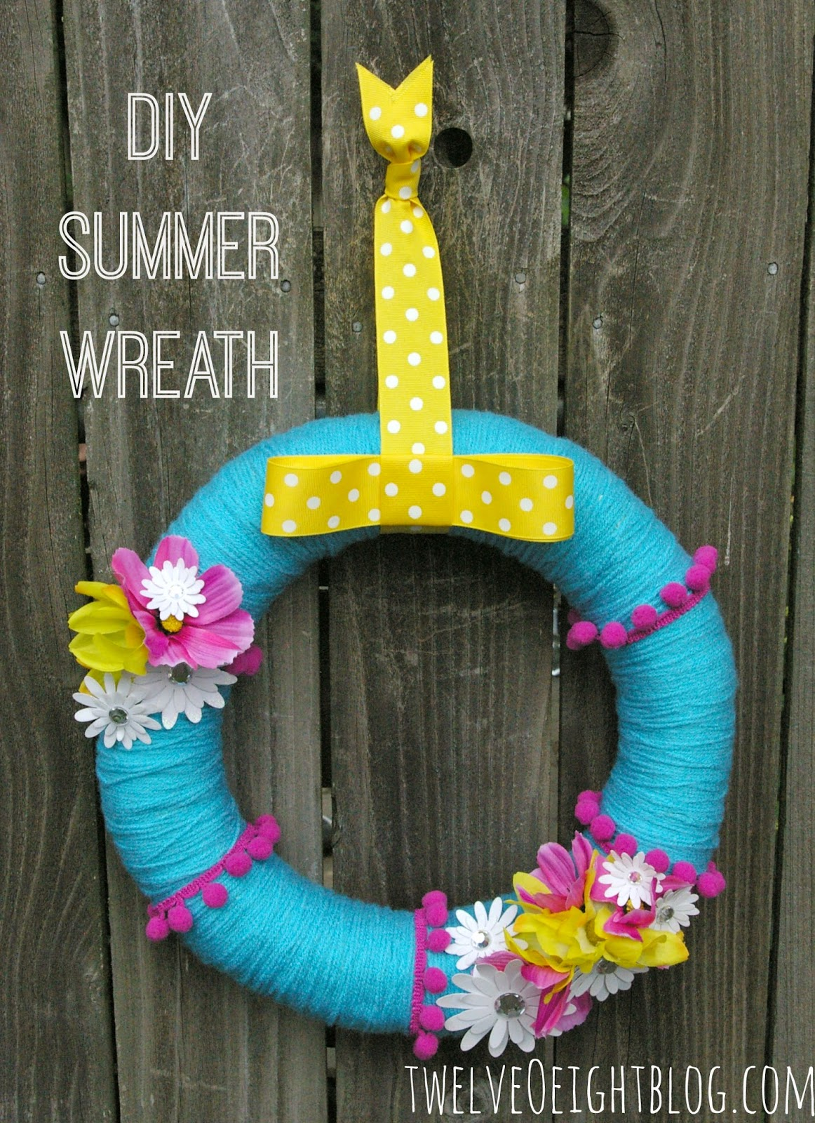 wreath, diy wreath, summer wreath