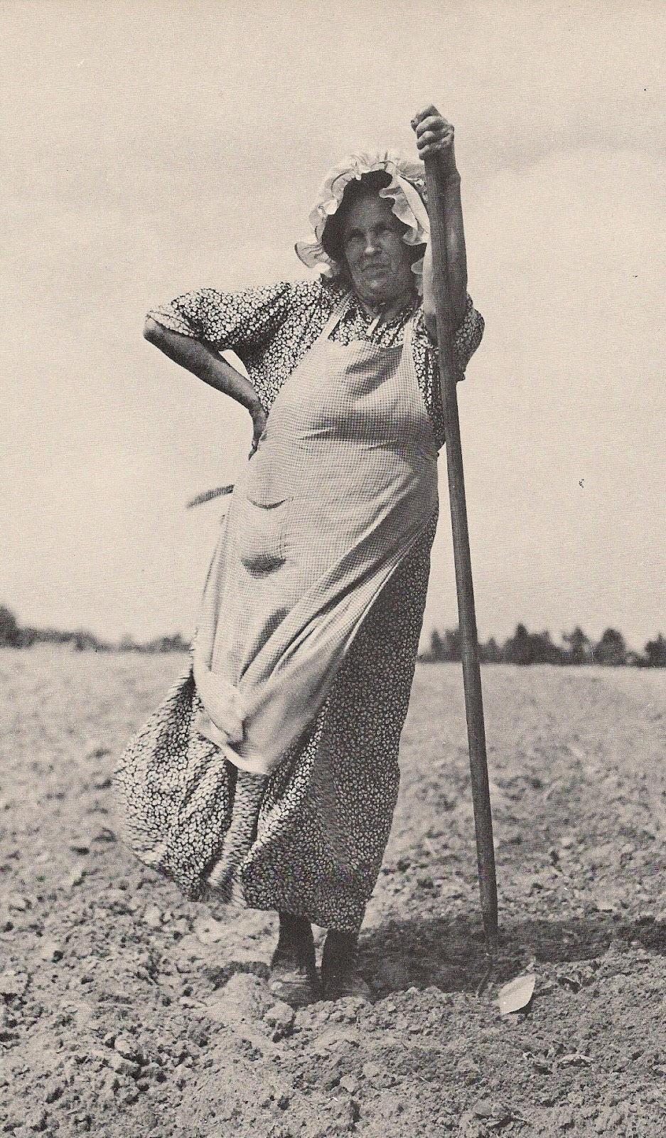 vintage working woman