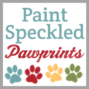 Paint Speckled Pawprints