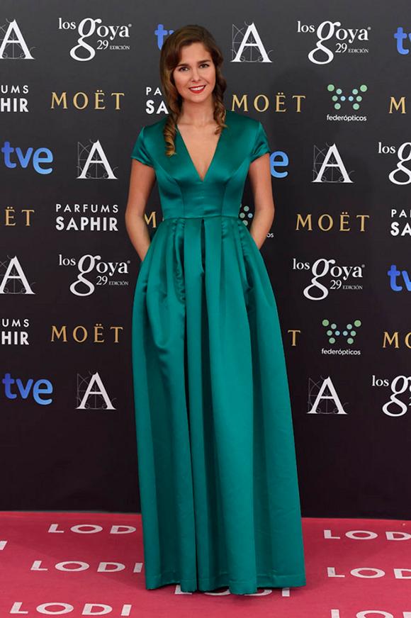 Natalia Sánchez en los Goya 2015