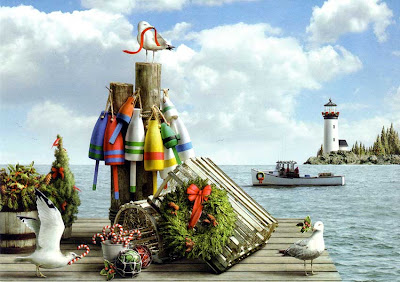 A Maritime Christmas scene