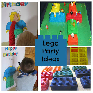 Cake, Lego Crayons, Pin the Head on Lego Character