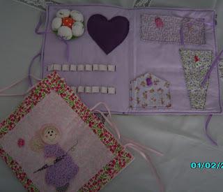 Pasta de Costura em tecido; artesanato em tecido
