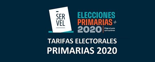TARIFARIO ELECTORAL PRIMARIAS