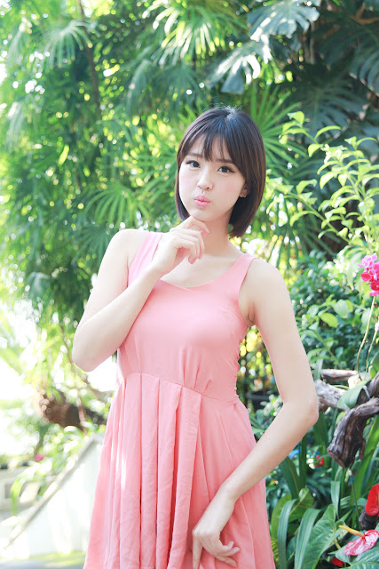 Choi Byeol Ha in Pink Dress