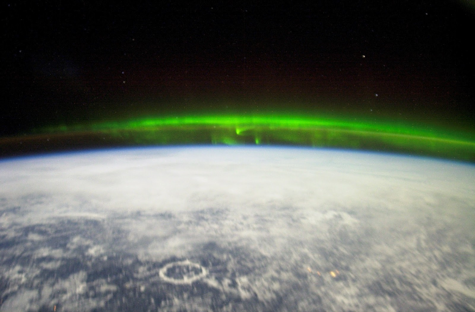 Aurora Borealis From Space high resolution widescreen