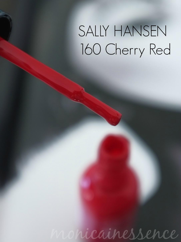 ruky, sally hansen, cherry red