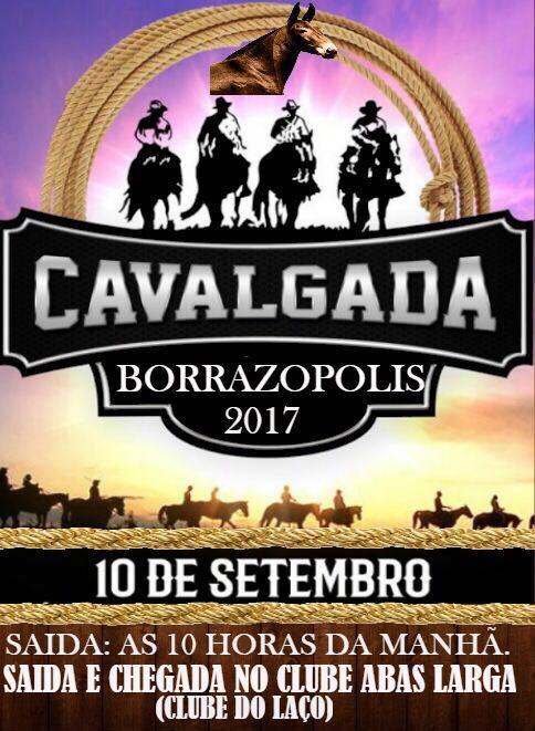 CAVALGADA EM BORRAZÓPOLIS