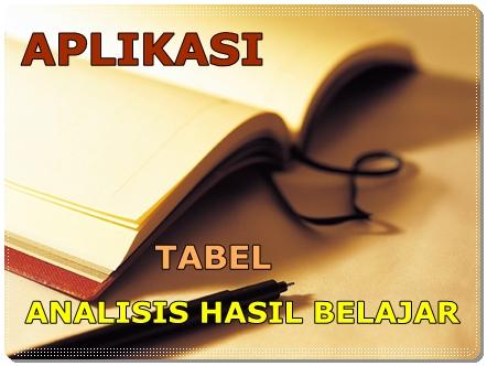 Tabel Analisis Hasil Belajar Share With Didik Hr