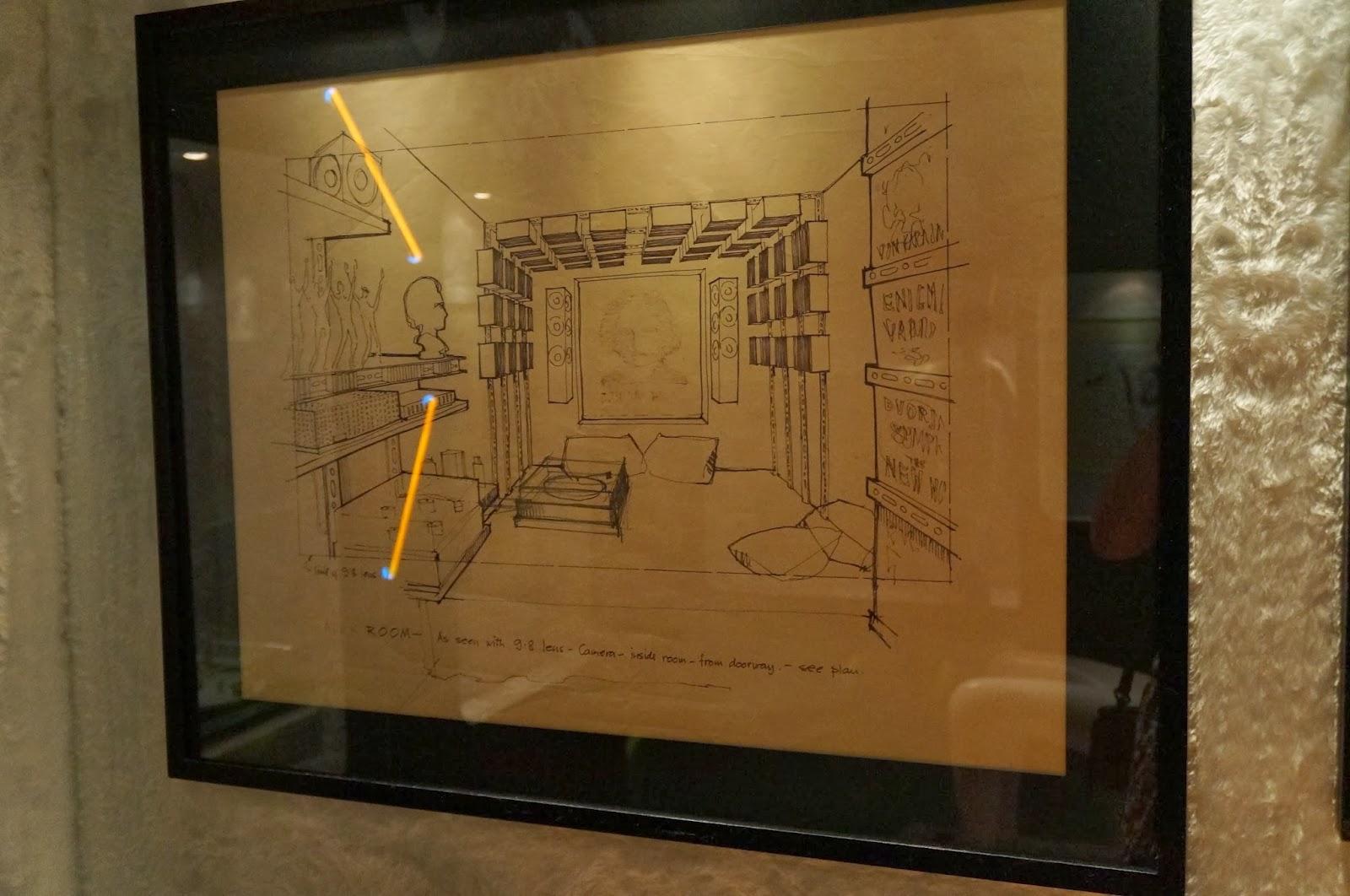 """estudos de cenário do filme """"Laranja Mecânica"""" - Stanley Kubrick - MIS - SP"""