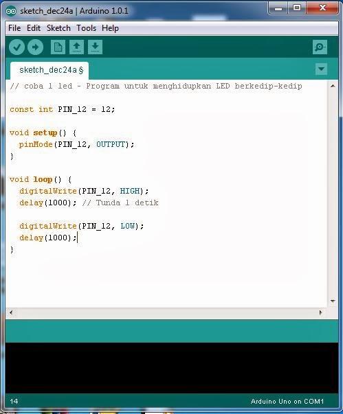 Cara memprogram dan menjalankan arduino tutorials