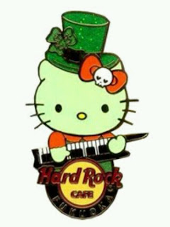 Hello Kitty Happy St Patrick's Day Hard Rock Cafe